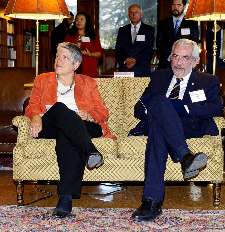 Presidents of UNAM and UC meet at UC Berkeley for discussions.